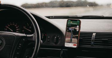 application GPS en voiture